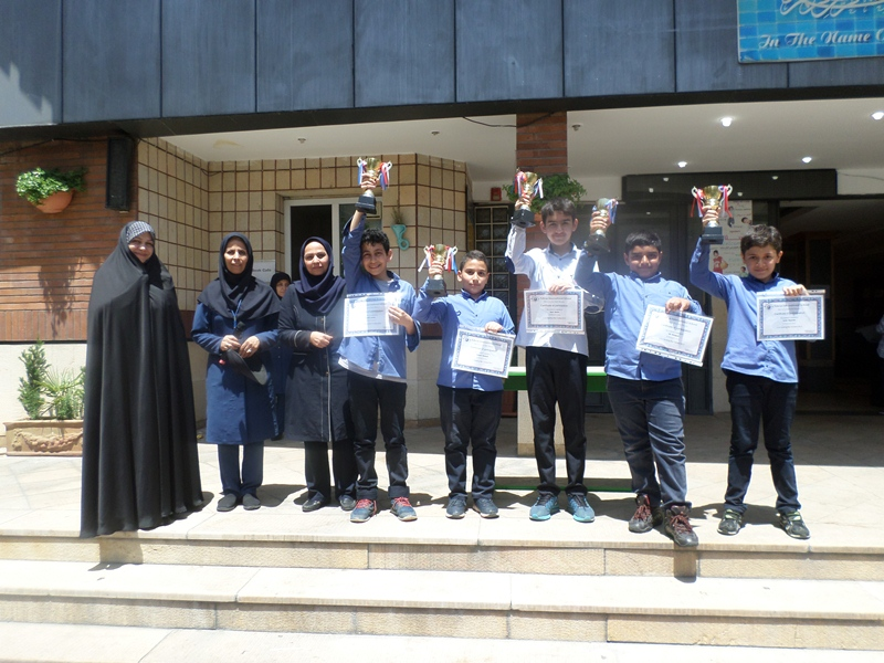 The winners of Spelling Bee Contest  (Grade 6a and b 2017)