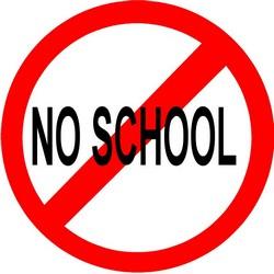 School is closed tomorrow